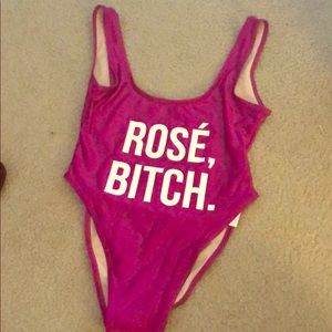 Rose Bitch One Piece Bathing Suit -Private Party